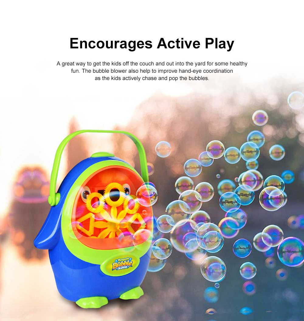 Cartoon Penguin Bubble Machine Children's TikTok Same Paragraph Blowing Bubble Toy( Send 2 Bottles Size) 1