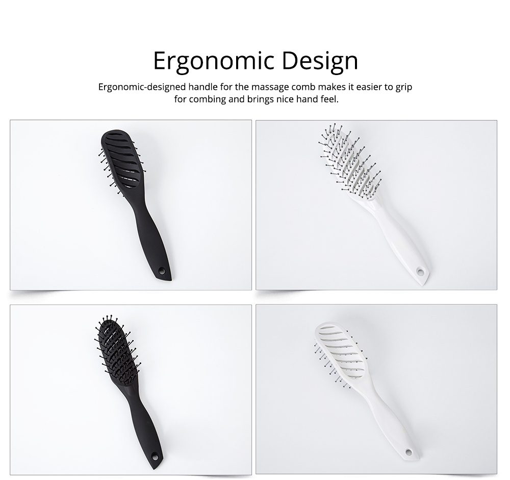 Arc-Shaped Massage Comb for Quick Hairdressing Comb Comfortably Hairdressing Brush Bevel Brush Plastic Massage Comb Hairdressing Comb Brush 4