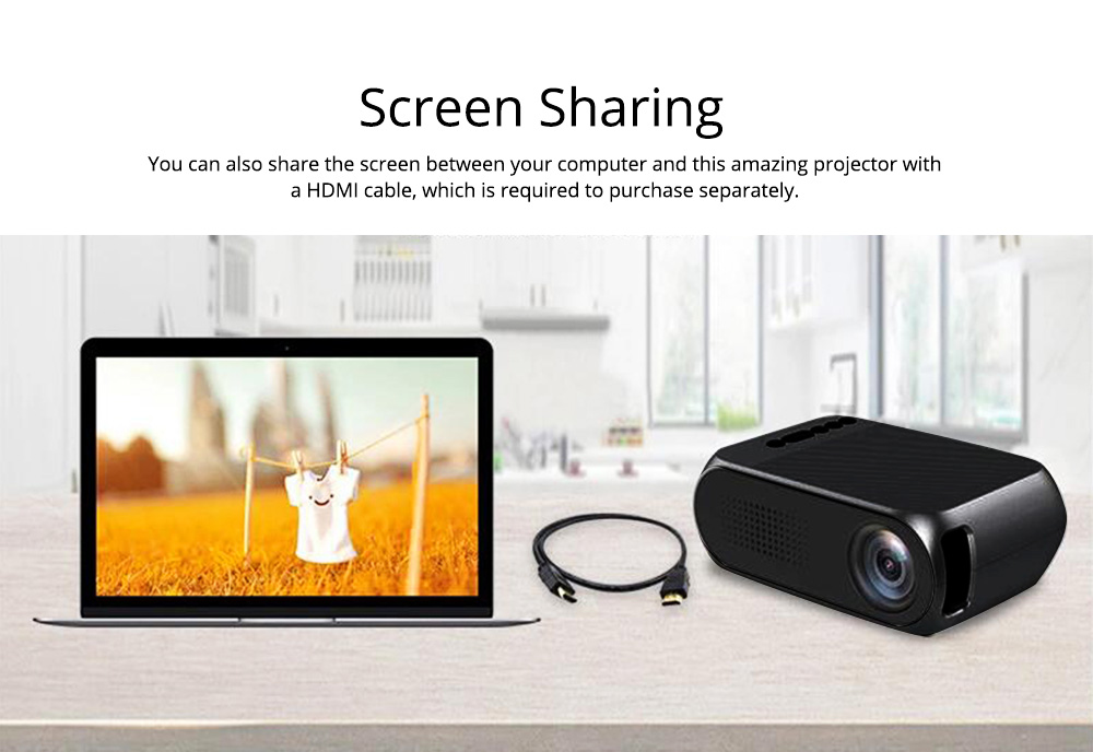 Domestic New Style Home Theater YG320 Mini-sized Portable Projection Machine for Home Using 1080P Supporting for OEM Custom 6