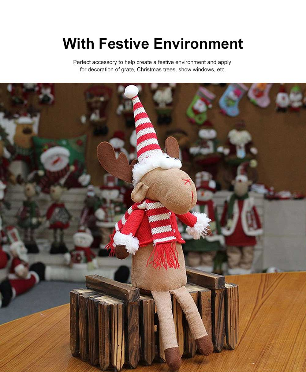 Christmas Decorations Elk Ornaments Christmas Fabric Sitting Posture Dolls Christmas Creative Toys 2
