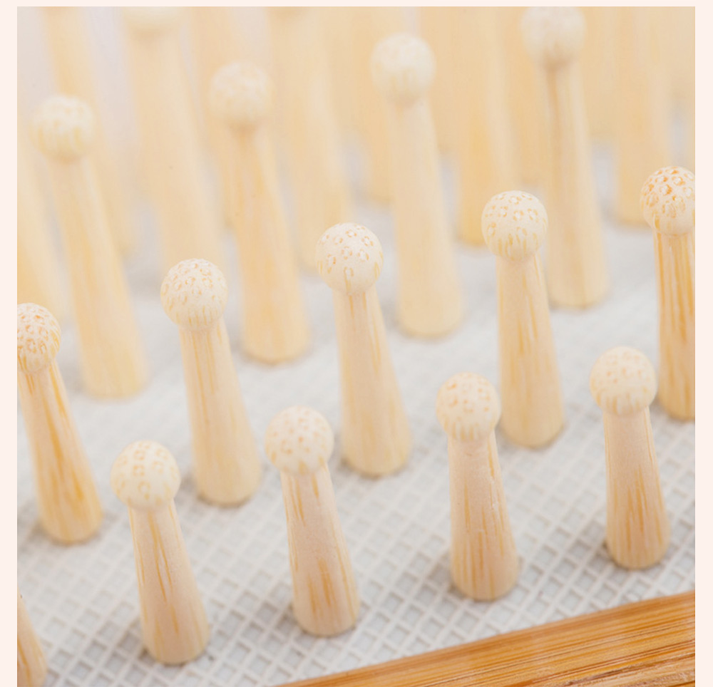 Bamboo Air Sac Massage Comb for Curled Hair Air Pad Comb Bamboo Comb Household Air Sac Massage Comb Hairdressing Tools 3
