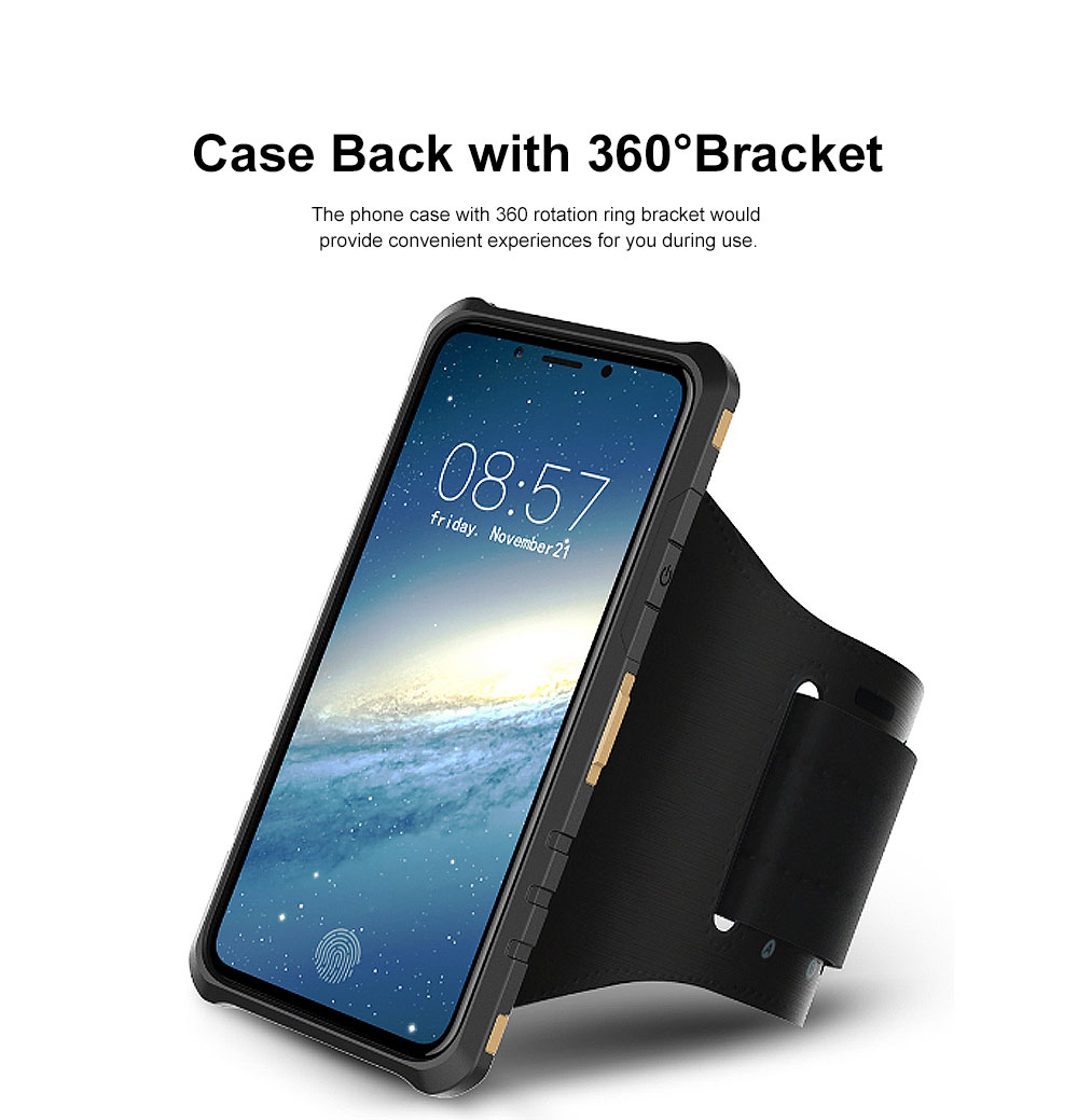 Annual Ring Pattern Phone Case, Multifunctional Phone Case with Ring Bracket, Case Cover with Holder, 360°Full Protection for iPhone 2