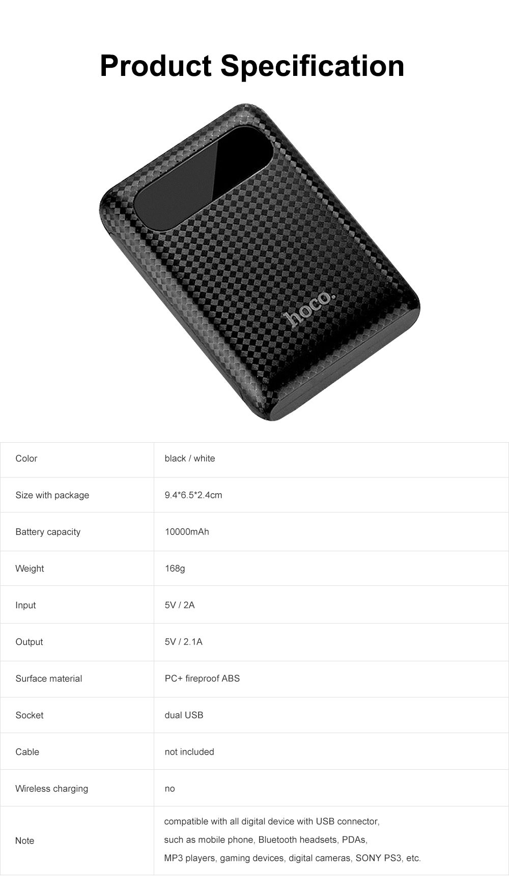 Exquisite Mini Pocket Carbon Fiber Plaids External Battery Fireproof ABS Charger Dual USB Power Bank for Cell Phone 10000mAh with LED Lamp 8