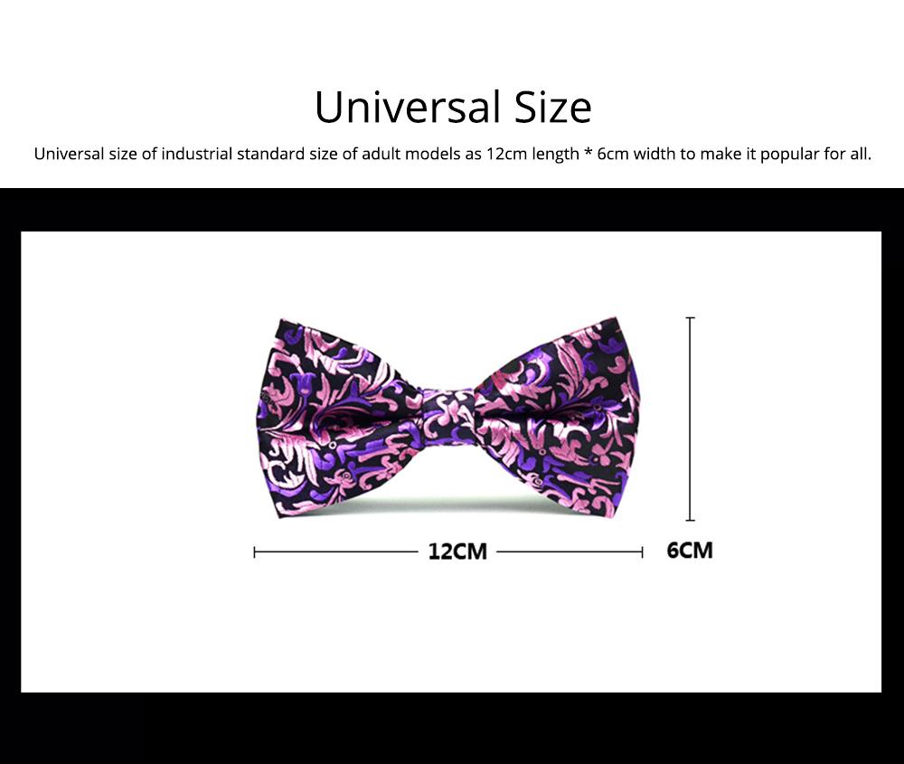 Bow Tie for Wedding Business Suit Fashionable British Style Elviro Tie Bridegroom Groomsman Used Bow Tie Purple Pink Tie European Pattern Design Tie 6
