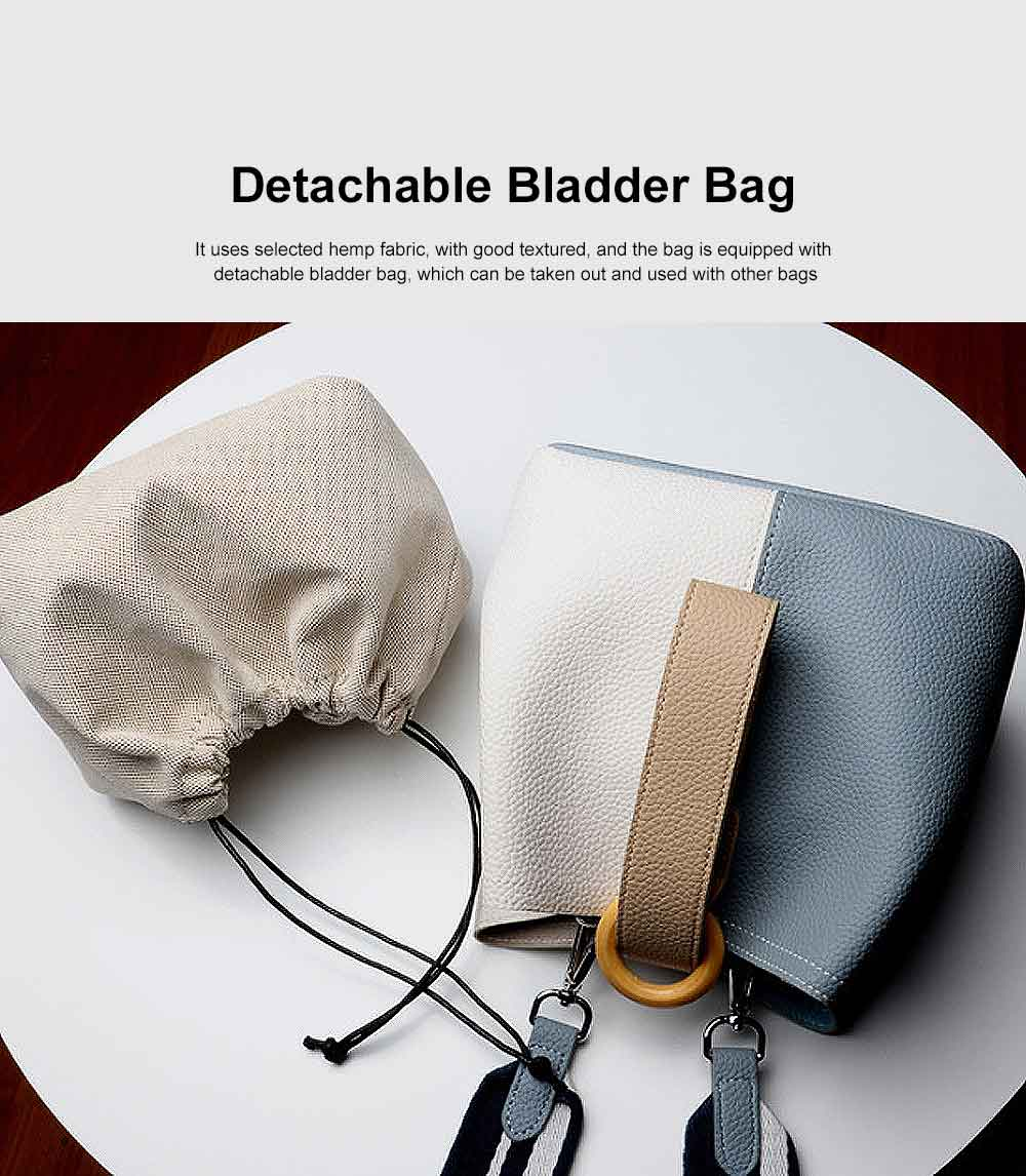 Fresh Ladies Crossbody Bag, Female Bucket Bag, with Detachable Bladder Bag 1