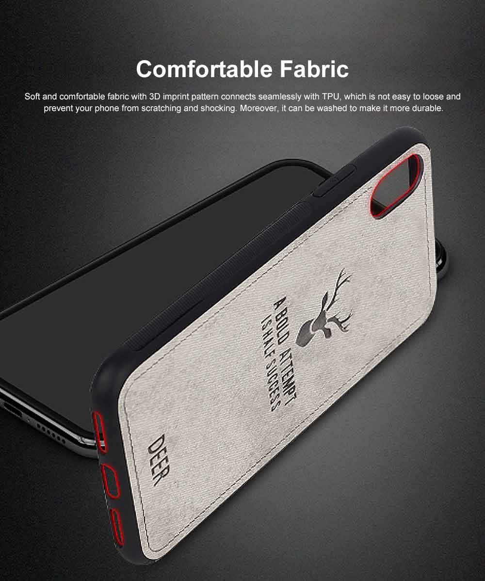 Elk Creative Silicone Phone Case, Creative Case Cover, Characteristic Linen Grain, Soft Silicone Case Cover, Apply for iPhone 1