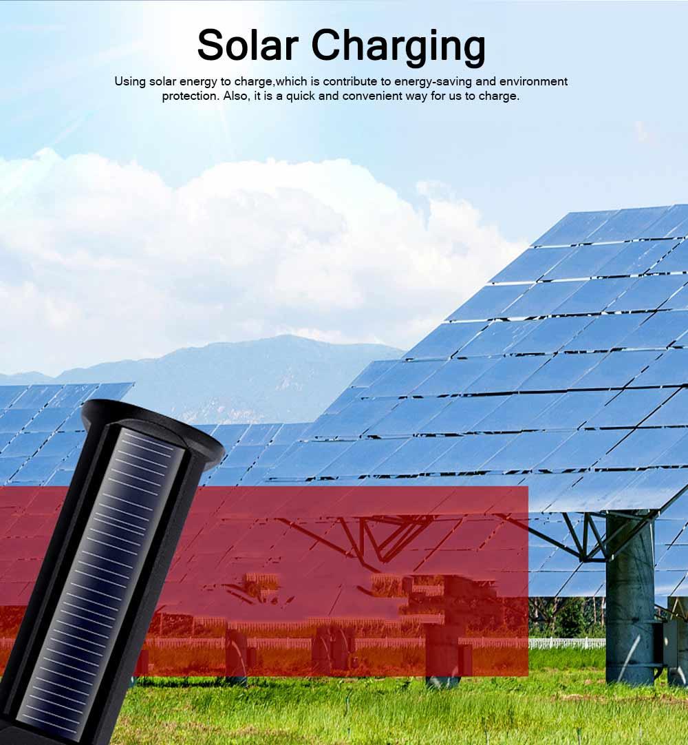Emergency Charging USB Charging Lighting with LED Solar Panel, Self-defense Waterproof Aluminum Alloy Energy Saving Q5 Flashlight 1
