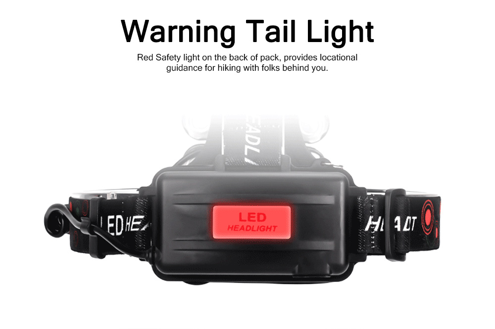 LED Lithium Battery T6 Headlights USB Charging Waterproof Lighting Zoom 5 LED Headlights For Night Ride Fishing 3