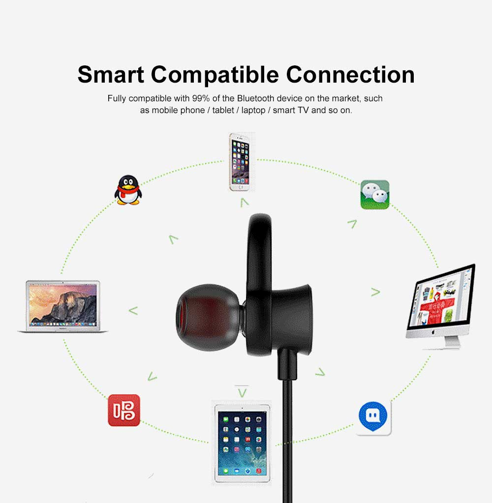 Unique Host Headset Separation Wireless CSR4.1 Bluetooth Earphone Headphones In-ear Neckband Headset Sports Supplies For iPhone Samsung 4
