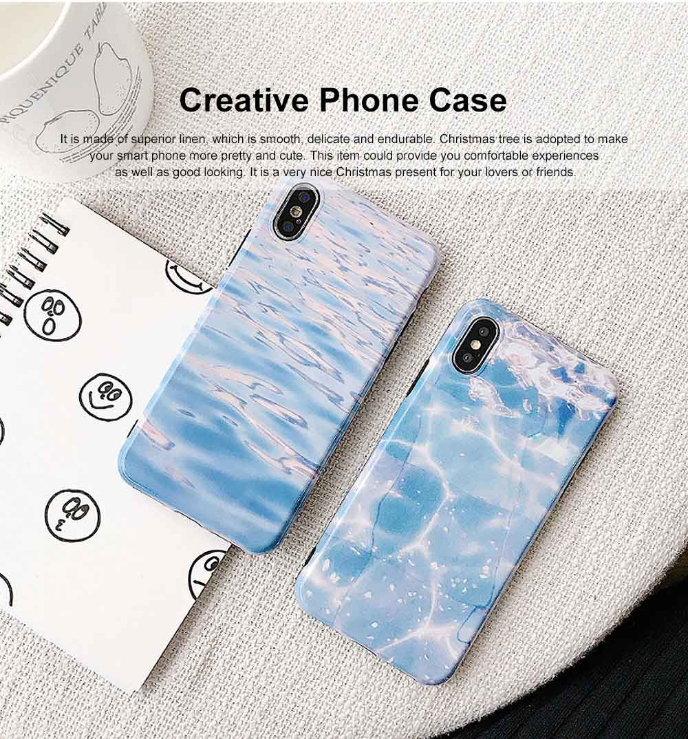 Creative Christmas Tree Phone Case, Wool Felt Snowflake Case Cover, Stylish Christmas Present, Linen Grain Flannelette Phone Case for iPhone 0