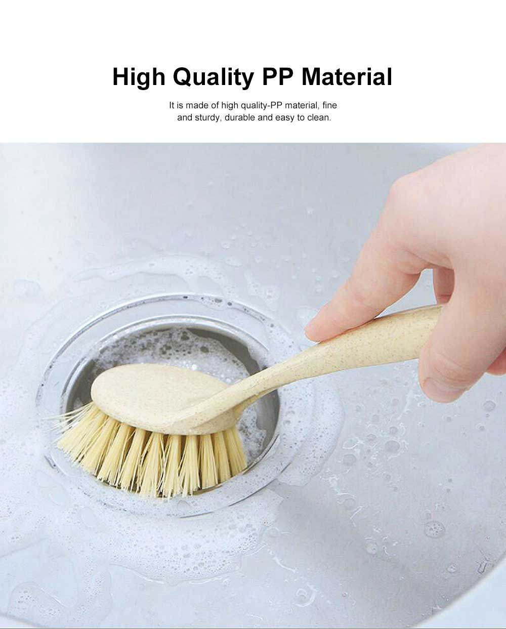 Long Handle Brush, Household Brush for Washing Non-stick Pan, Stove, Plastic Decontamination Cleaning Brush 3