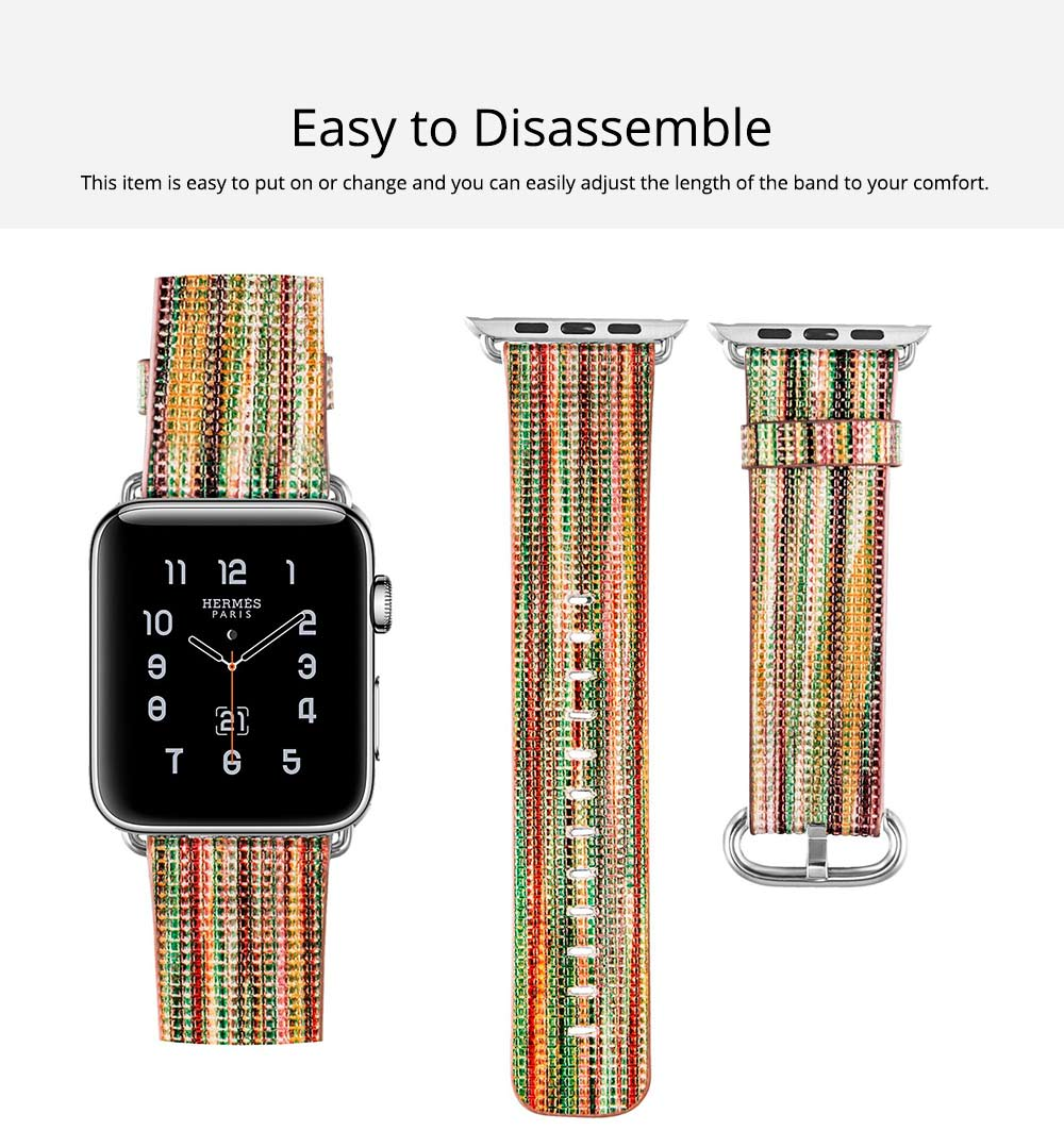 Rainbow Color Watch Band for Apple Watch New Style Colorful Short Watch Strap 38mm/42mm for Both Men and Women 2