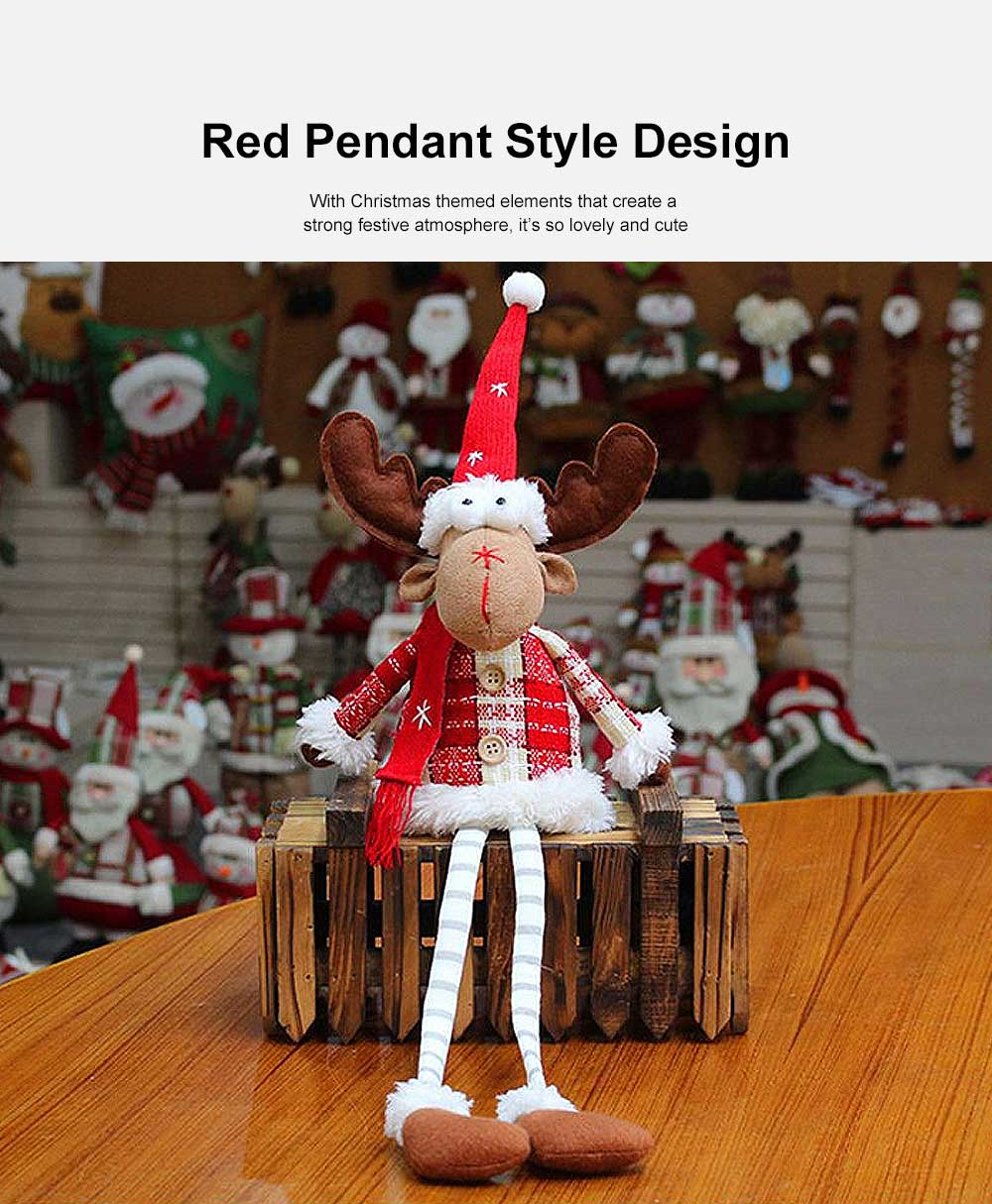 Christmas Decorations Elk Ornaments Christmas Fabric Sitting Posture Dolls Christmas Creative Toys 1