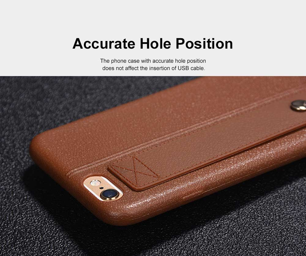 Imitation Leather TPU Phone Case, Soft Case Cover with Multifunctional Stand, Total Binding Business Phone Case for iPhone 4