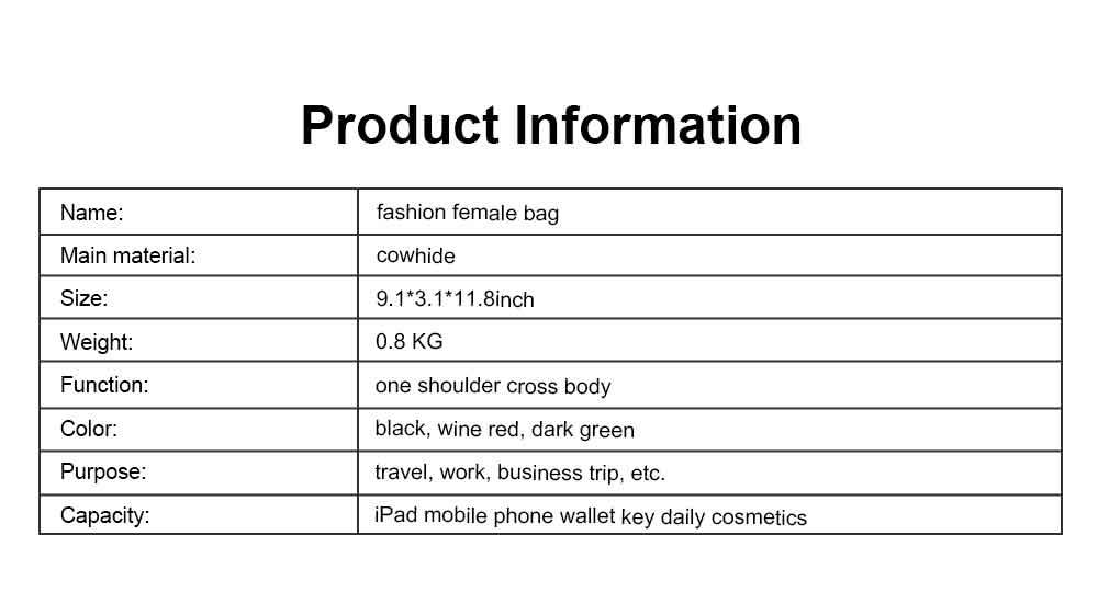 First Layer Cowhide Handbag, New Fashion Star Shoulder Diagonal Bag, with Metal Magnetic Buckle Design 6