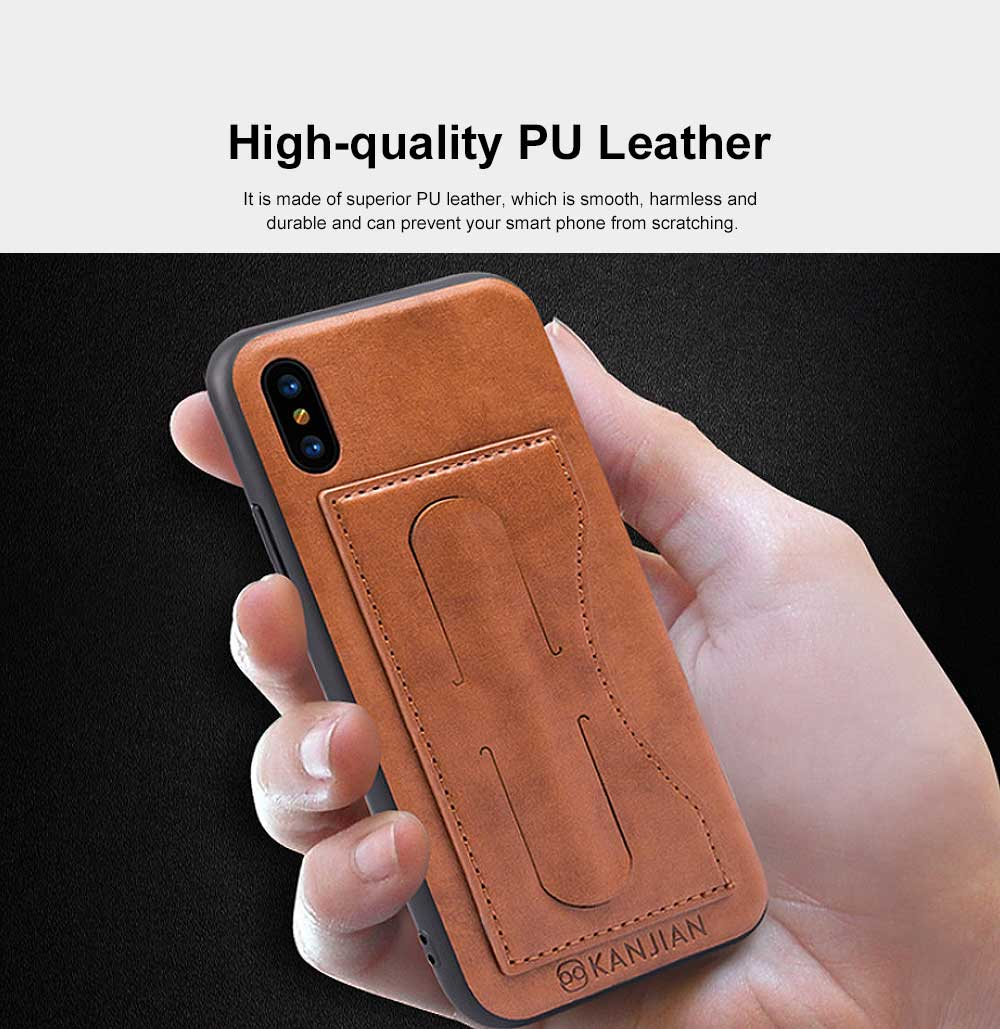 Luxury Soft Leather Phone Case, Minimalist High-end Business Phone Case for iPhone, Samsung, Huawei, Vivo, Oppo 6