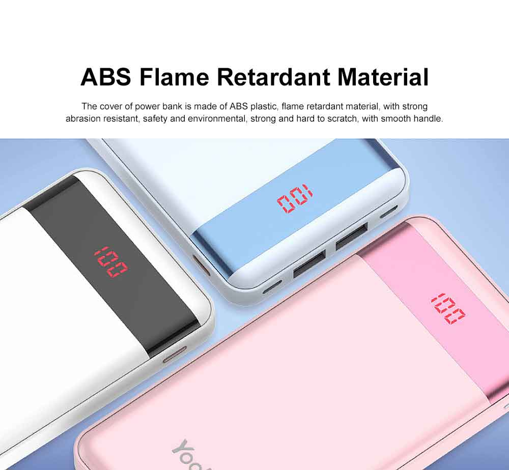Cute Cartoon Slim Power Bank Digital Display Portable External Battery Colorful Charger Fast Charging for Cell Phone 10000mAh 5
