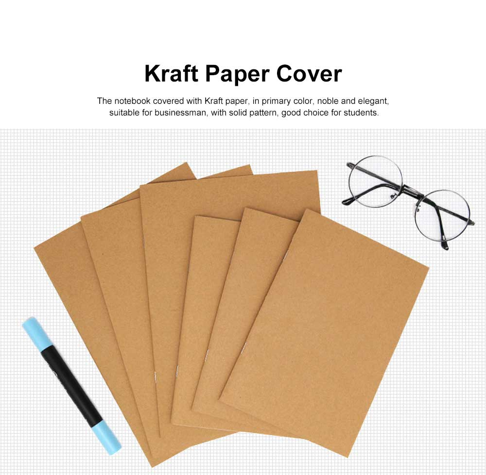 Simple Kraft Cover Exercise Book Students Scribbling Pad Uncoated Woodfree Paper 40&60 Pages A5&B5 Notebook 1