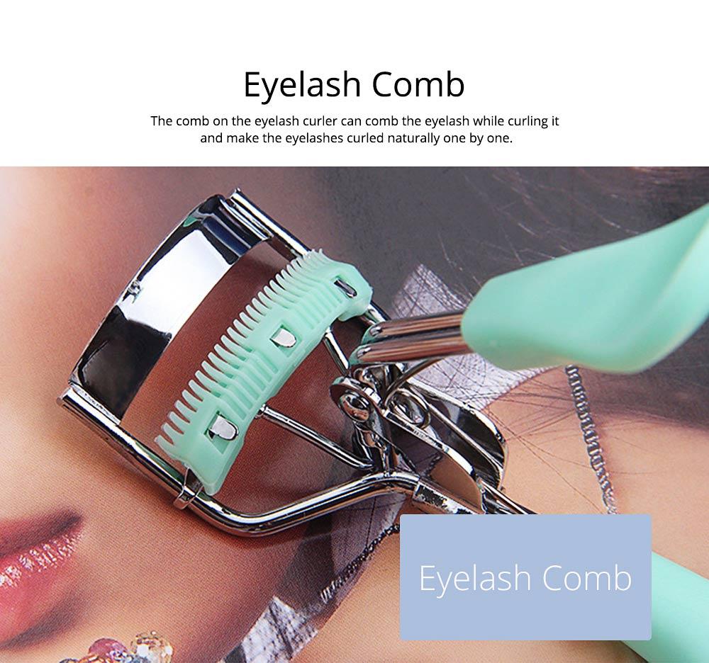 Eyelash Curler with Comb for Beauty Makeup Stainless Steel Eyelash Curler Eyebrow Trimmer Eyebrow Tweezer Beauty Makeup Tools 2
