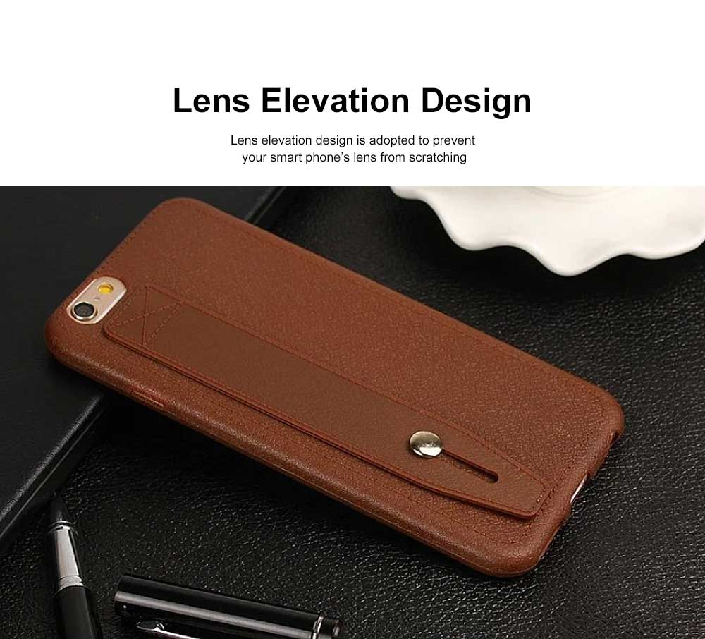 Imitation Leather TPU Phone Case, Soft Case Cover with Multifunctional Stand, Total Binding Business Phone Case for iPhone 5