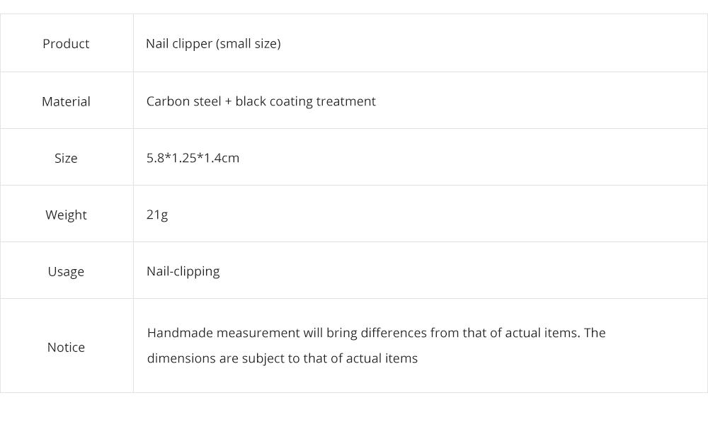 Carbon Steel Nail Clipper Black Treatment Nail Caring Tool Carton Steel Clipper EXW Nail Caring Nail Clipper 9