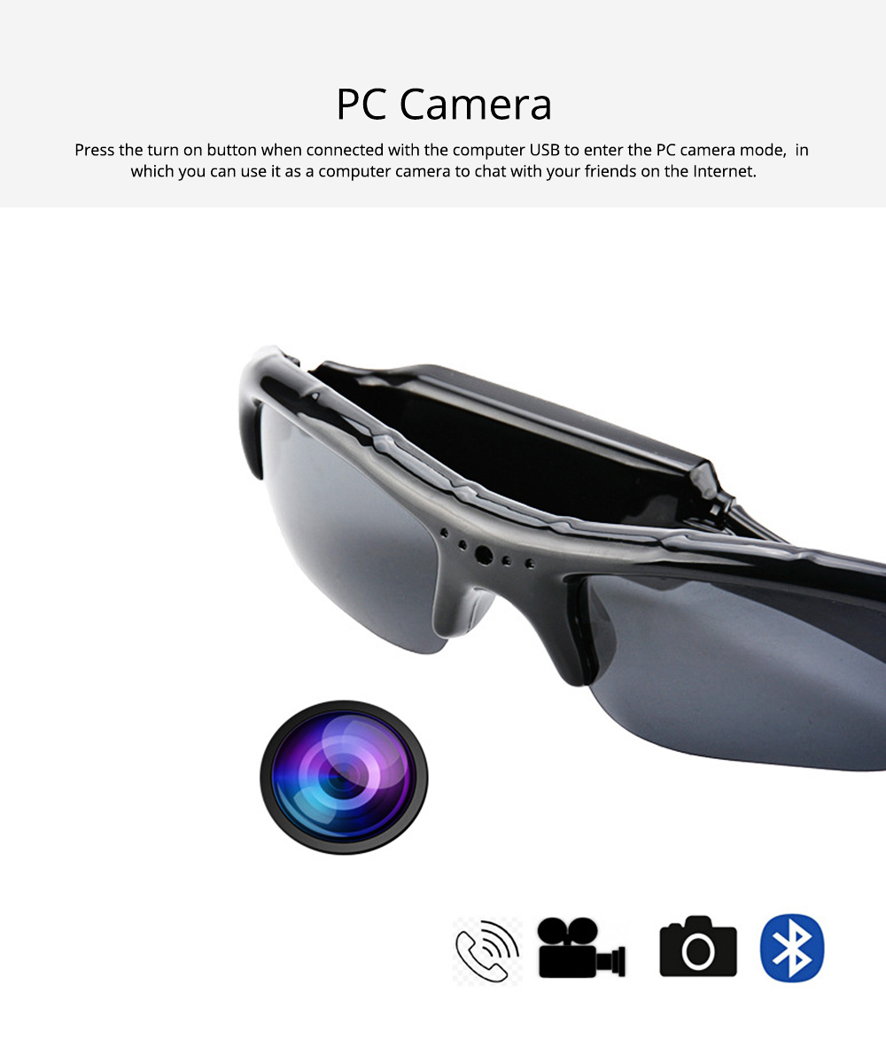 High Quality Wireless Bluetooth Sunglasses Sports Riding Glasses Headset Smart Glasses for Music and Camera Shooting 6