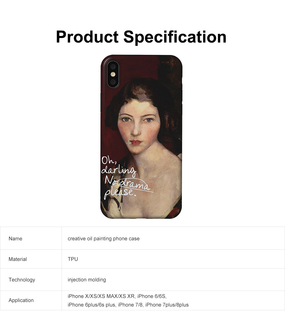 Creative Oil Painting Phone Case, Fine and Smooth TPU Phone Case, Elegant Ultrathin Soft Case for iPhone 6