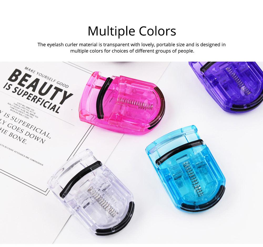 Plastic Eyelash Curler for Beauty Makeup Portable Eyelash Curler Mini Size Durable Long-lasting Curled Eyelash Tool Magic Beauty Tool Eyelash Curler 4