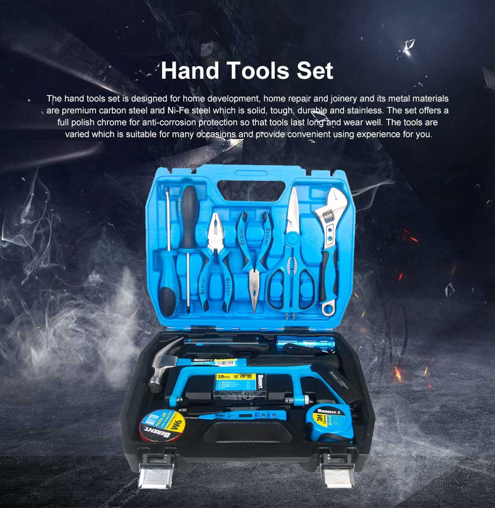 Household Hand Tools Set, 36 PCS Tools Set, Strong Hand Tools, Home Repair Tool Set, Hand Tool Kit with Plastic Tool Box 0