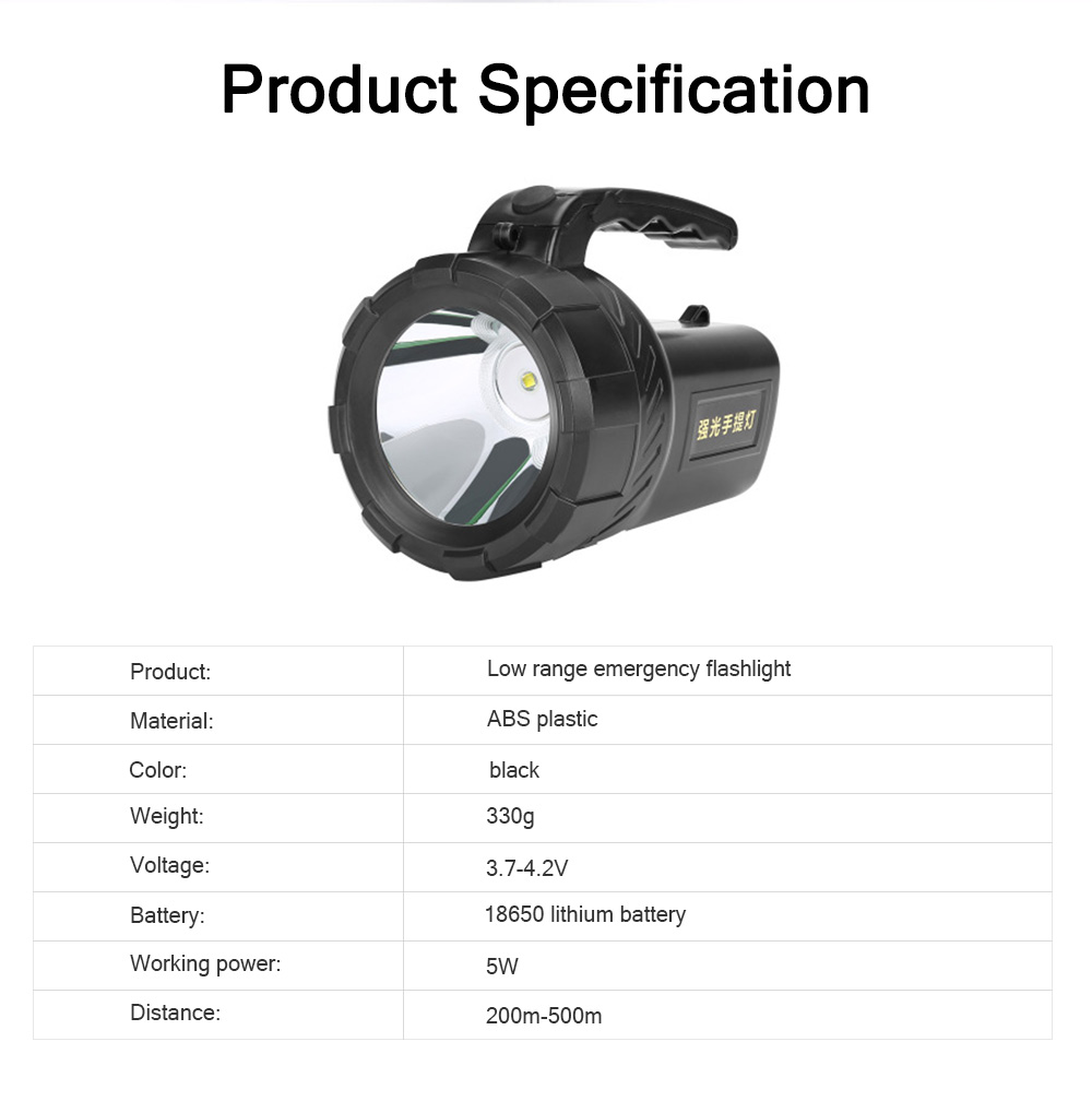 Plastic LED Large Portable Light Glare Long-range Lithium Battery Charging Outdoor Search Mining Lamp Emergency Flashlight 6