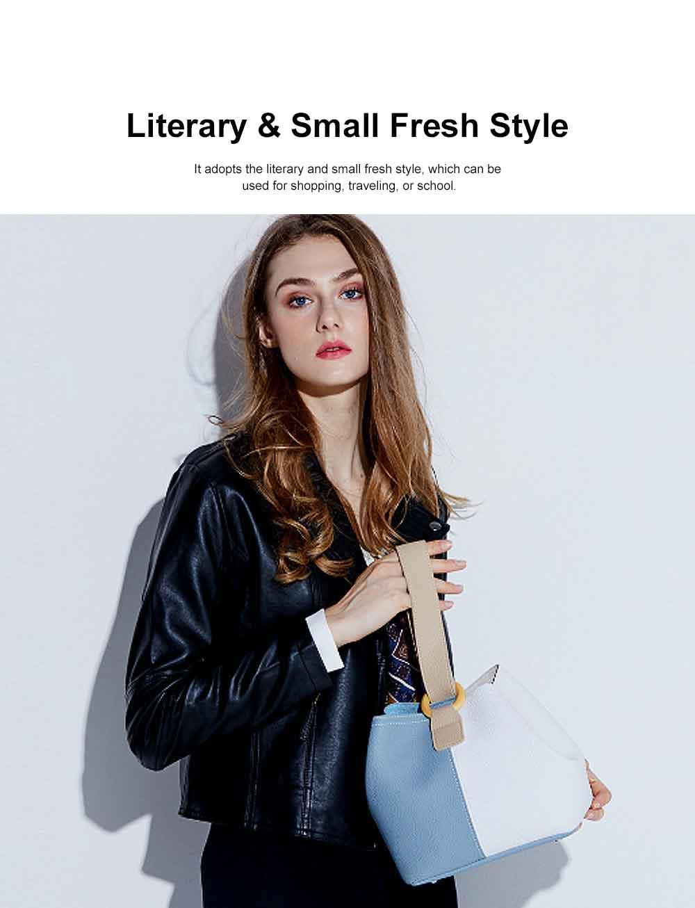 Fresh Ladies Crossbody Bag, Female Bucket Bag, with Detachable Bladder Bag 2