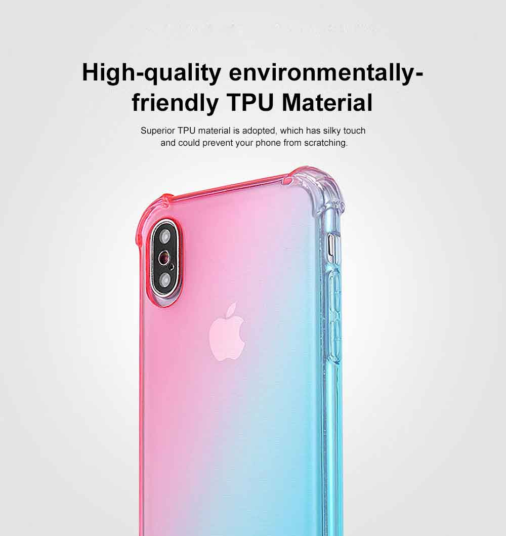 Gradient Phone Case, Ultrathin Soft TPU Case Cover with Bumper, Four-angle Gel Case Protection, Minimalist Phone Case for iPhone 1