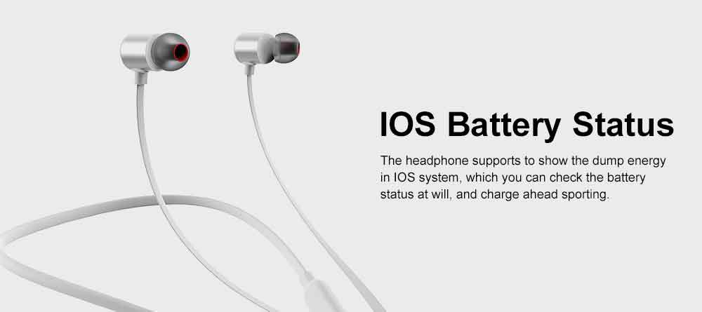 Magnetic Switch Wireless Bluetooth Earphone Headphones In-ear Neckband Headset Sports Supplies For iPhone Samsung 6