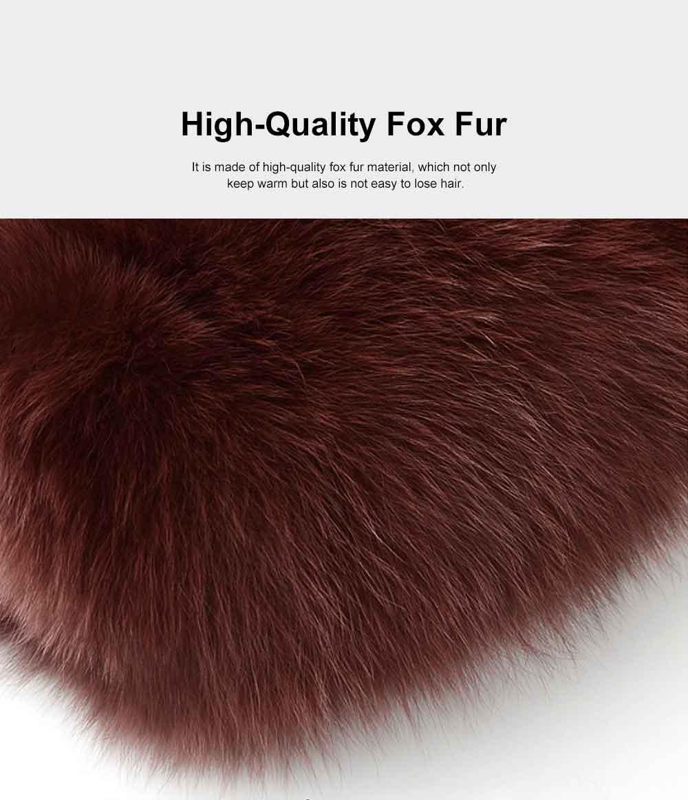 Selected Fox Fur Ladies Shoulder Bag, Beautiful Diagonal Crossing Bag, with Shoulder Strap Buckle 1