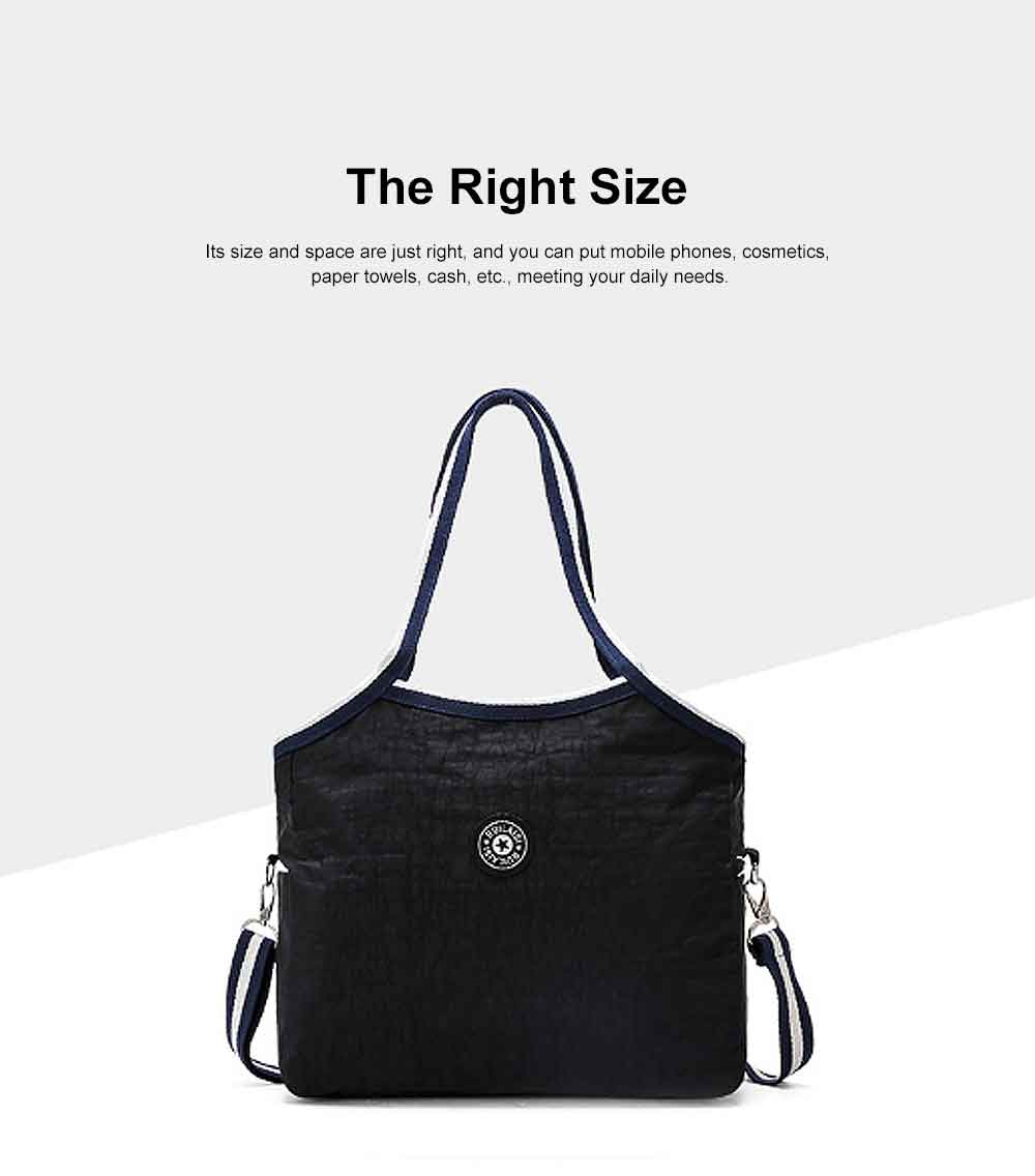 Selected Nylon Washed Fabric Shoulder Bag, Waterproof Diagonal Bag for Female 2019 1