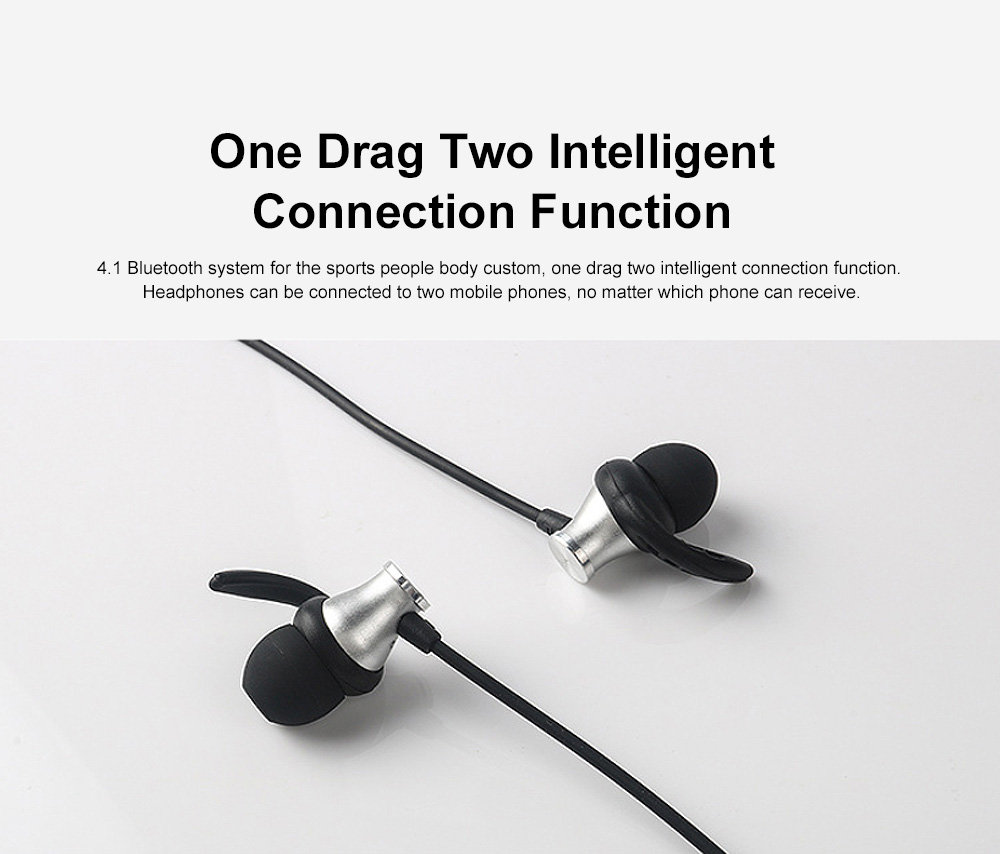 Professional Sharp Fin Wireless Ver 4.1 Bluetooth Earphone Headphones In-ear Neckband Headset Sports Supplies For iPhone Samsung 7
