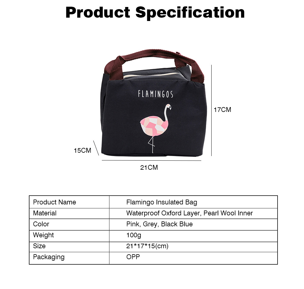Cartoon Insulated Lunch Bag with Zipper, Cooler Bag Lunch Container for Outdoor Activities, School, Adults, Children, Waterproof Lunch Tote 8