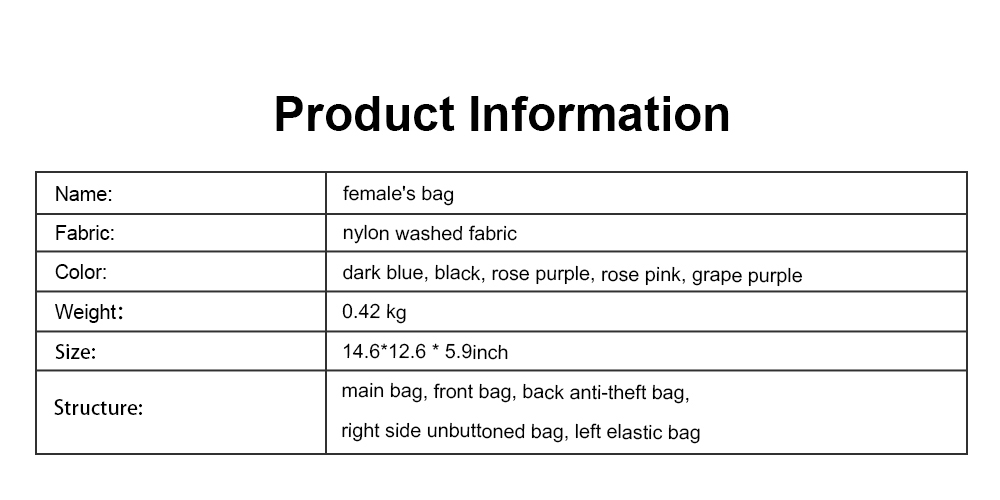 Selected Nylon Washed Fabric Shoulder Bag, Waterproof Diagonal Bag for Female 2019 6