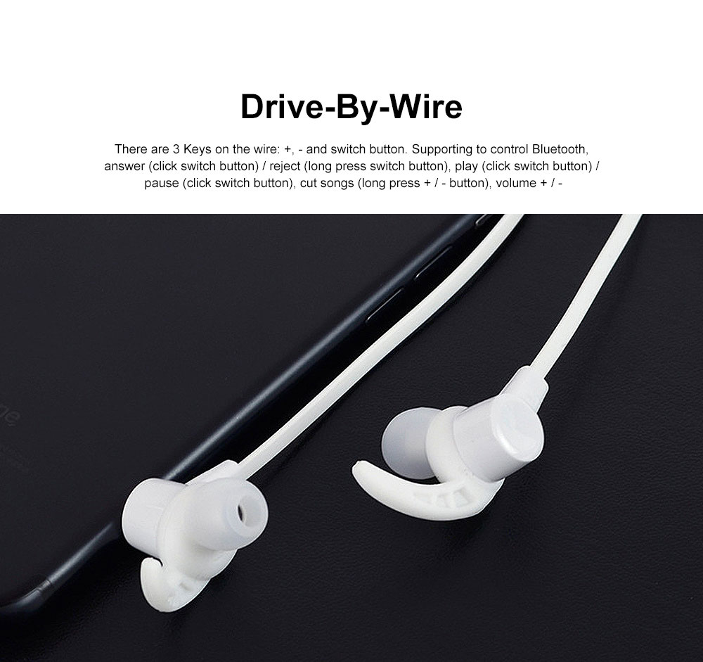 New Waterproof Wireless Bluetooth Earphone Headphones In-ear Neckband Headset Sports Supplies For iPhone Samsung 5