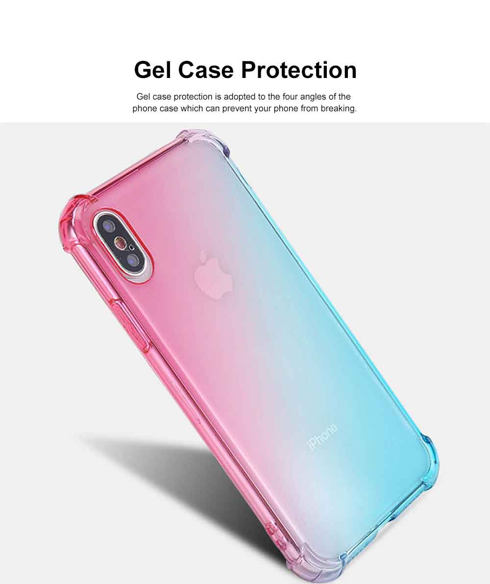 Gradient Phone Case, Ultrathin Soft TPU Case Cover with Bumper, Four-angle Gel Case Protection, Minimalist Phone Case for iPhone 2