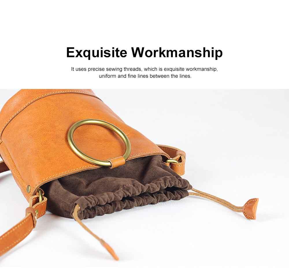 Cowhide Leather Ladies Shoulder Bag, Single-shoulder Slant Straddle Bag for Shopping, Dating 4
