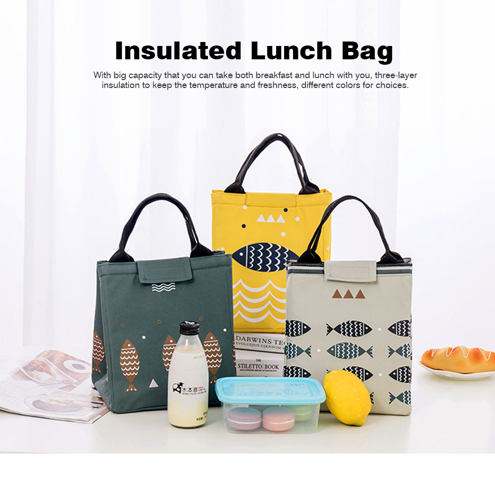 Thickened Insulated Lunch Bag for Outdoor, Picnic, Reusable and Portable Lunch Tote Bag, Leakproof Lunch Tote for Adults and Children 0