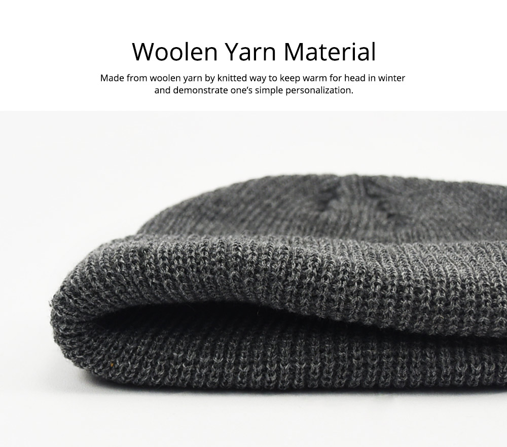 Stylish Winter Skullcap for Male Use of Korean Style Design Knitted Woolen Yarn Hat Fashionable Hip-hop Hat 5