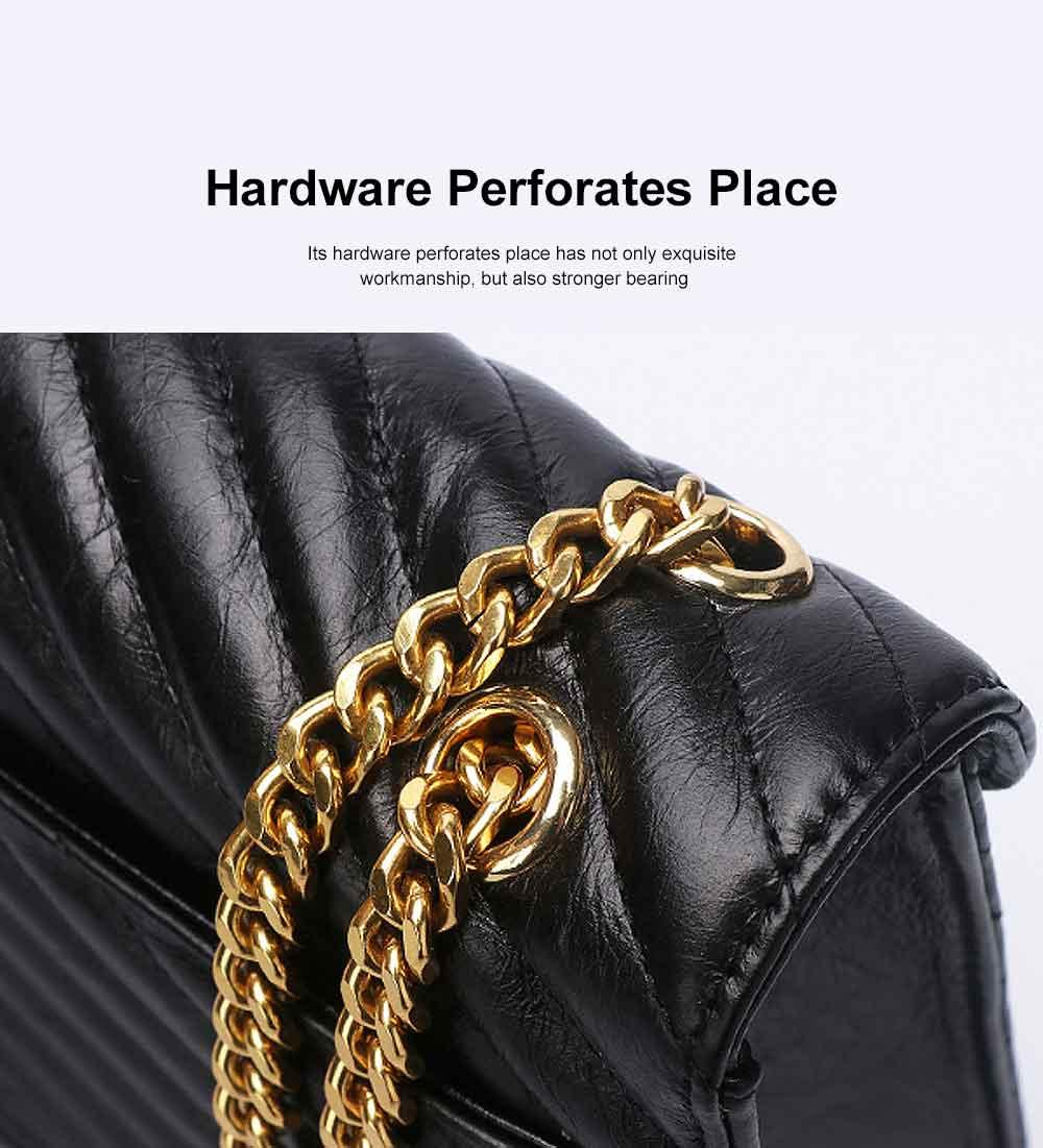First Layer Cowhide Handbag, New Fashion Star Shoulder Diagonal Bag, with Metal Magnetic Buckle Design 3