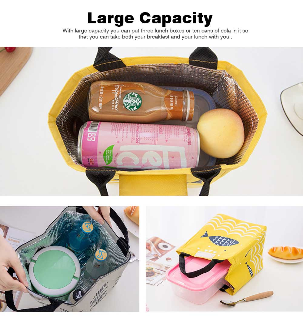Thickened Insulated Lunch Bag for Outdoor, Picnic, Reusable and Portable Lunch Tote Bag, Leakproof Lunch Tote for Adults and Children 1