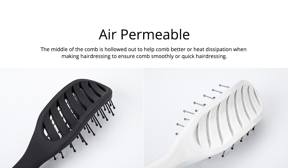 Arc-Shaped Massage Comb for Quick Hairdressing Comb Comfortably Hairdressing Brush Bevel Brush Plastic Massage Comb Hairdressing Comb Brush 3