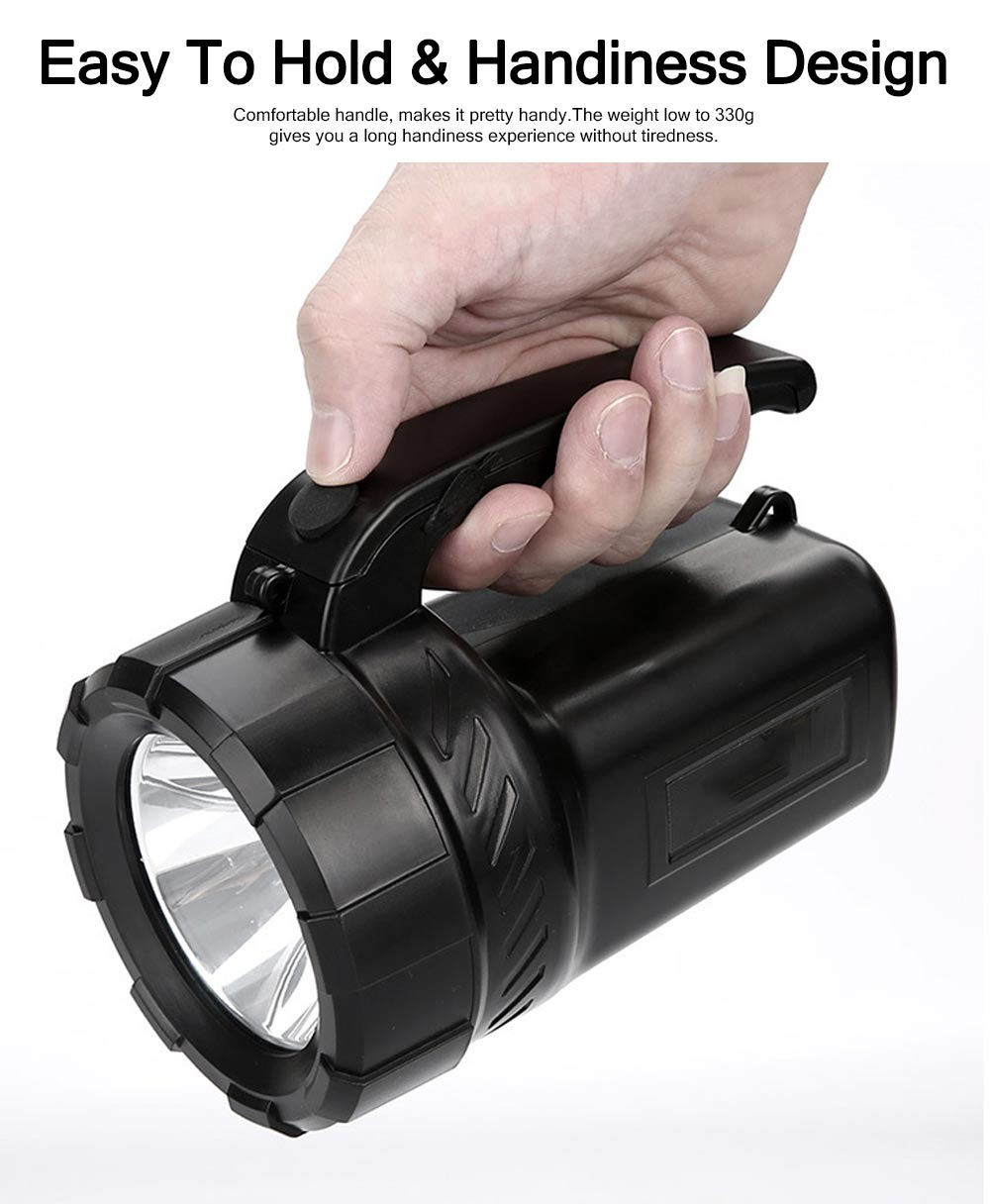 Plastic LED Large Portable Light Glare Long-range Lithium Battery Charging Outdoor Search Mining Lamp Emergency Flashlight 3