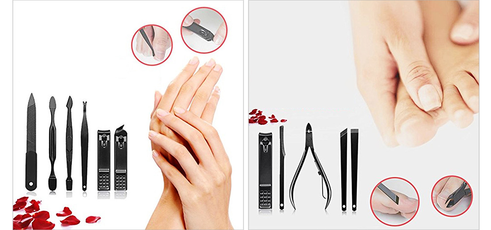 Stainless Steel Tools for Beauty Makeup and Nail Caring Household Beauty Makeup and Nail Caring Kit Nail Clippers Kit Eyebrow Trimmer etc Family Used 15-piece Kit 5