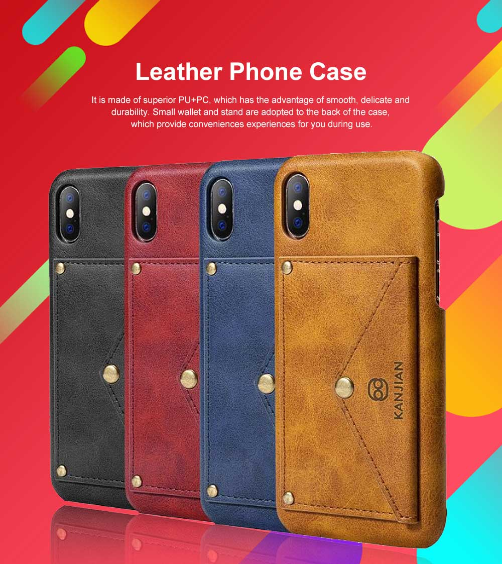 Premium Leather Phone Case Cover with Wallet, Cards Bag, Luxury Smooth PU+PC Case Cover for iPhone and Samsung 0