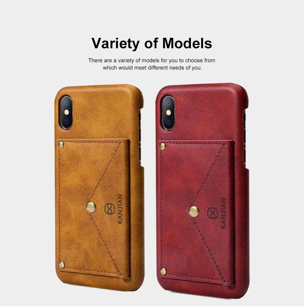 Premium Leather Phone Case Cover with Wallet, Cards Bag, Luxury Smooth PU+PC Case Cover for iPhone and Samsung 1